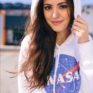 NASA Cropped Hoodie